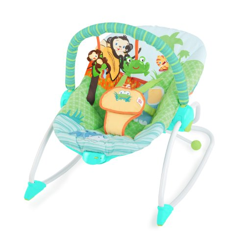 Bright Starts 60127 Pee-a-Zoo 3-in-1 Baby to Big Kid Rocker
