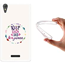 Funda Sony Xperia T3, WoowCase [ Sony Xperia T3 ] Funda Silicona Gel Flexible Keep Calm And Be a Princess, Carcasa Case TPU Silicona