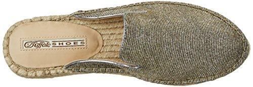 Buffalo 316-0188 Glitter, Mocassins Femme Or (Gold 01)