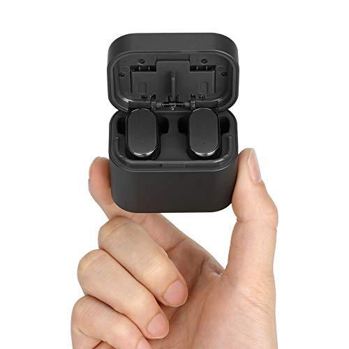 Bluetooth 5.0 drahtlose Ohrhörer, drahtlose Kopfhörer Bluetooth Ohrhörer drahtlose Kopfhörer mit Lade Fall Mini 3D Stereo Sound Binaural für IPhone Samsung Android Telefone (schwarz) - 7