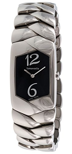 Tiffany & Co. Tesoro Stainless Steel Womens Watch Black Dial E2104-BLNX