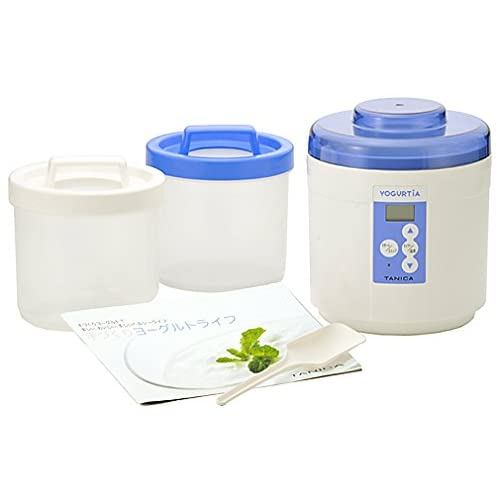 41LCgJCbS3L. SS500  - TANICA Yogurut maker Yogurutia start set Blue YM-1200-NB