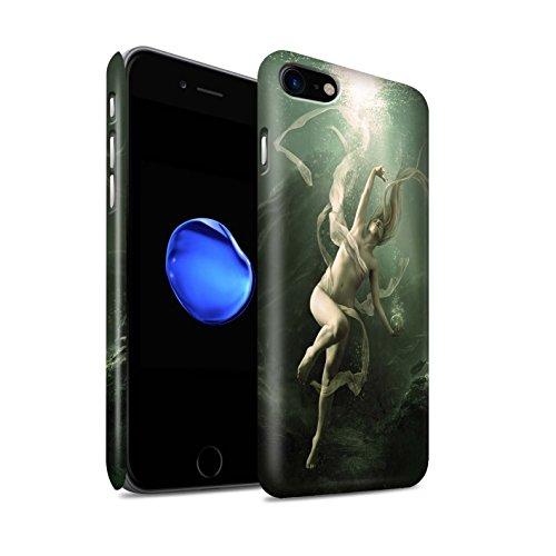 Offiziell Elena Dudina Hülle / Matte Snap-On Case für Apple iPhone 8 / Unterwasser Muster / Agua de Vida Kollektion Unterwasser