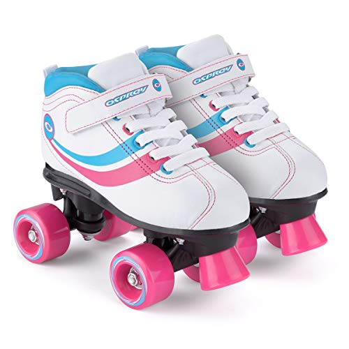 Chica Toyrific - Patines Retro, color Blanco White/Blue/Pink/Black, talla 33