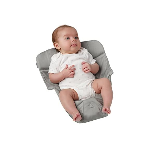 ERGObaby Infant insert for Baby Carrier Collection Original (3.2 - 5.kg), Cotton Grey Ergobaby Specially shaped pillow for supporting newborns in the frog-leg position Soft back panel for keeping baby's back slightly rounded in the carrier Head and neck support 4