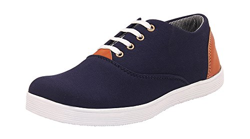 Foot n Style Men's Blue Canvas Sneaker Casual Shoes  available at amazon for Rs.494