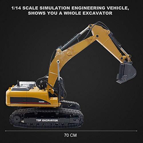 RC Auto kaufen Baufahrzeug Bild 4: Dilwe Fernbedienung Engineering Fahrzeug RC Bagger 2.4G 1:14 Skala 3 in 1 RC Elektro Modell Bagger Engineering Baufahrzeug Spielzeugauto*