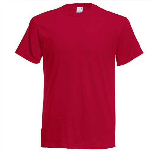 Fruit of the Loom Herren T-Shirt Ss022m Schwarz