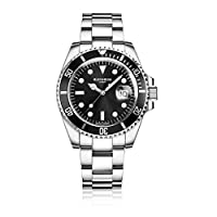 Blenheim London® Men's Navigator Luminous Sapphire Glass Black Dial Diver Watch