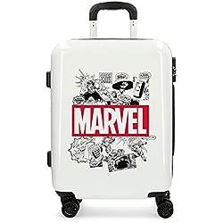 Marvel Comic - Equipaje Infantil, Blanco, 55 cm