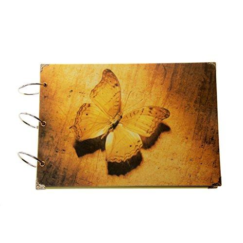 Vintage Schmetterling DIY Papier Fotoalbum Scrapbook Tagebuch Speicher Geschenke (Scrapbook-speicher)