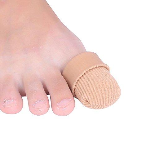 2 pezzi gel proteggi tubo copertura protettori punta dita separatori tubi idratante dita dita proteggi dita per i dolori alleggeriti alleviato sfregamento e attrito taglia l cute cura dei piedi