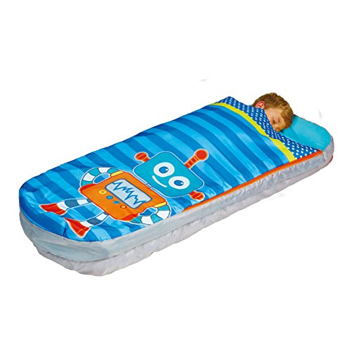 Readybed Boys Blue Robot Junior Inflatable Kids Air Bed and Sleeping Bag in one