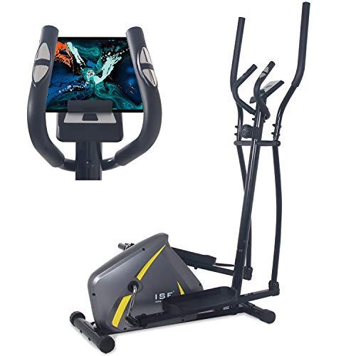 ISE Vélo d'Appartement Vélo Elliptique Magnétique Cross Trainer pour la Maison avec Capteur de...