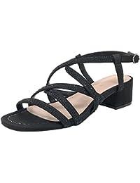 Alma en Pena V18328 Negro, Sandalias Para Mujer