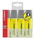 Textmarker - STABILO BOSS ORIGINAL - 4er Pack - gelb -