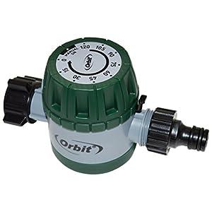Orbit 96014-Temporizador mecánico de riego Rosca BSP 3/4″, Verde, 5.5×14.0x8.0 cm
