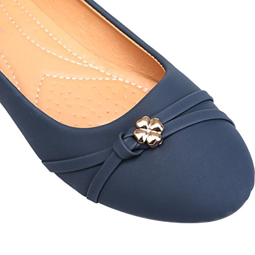In Fashionista Blu Piatte Similpelle Ballerine Le qwp1tt