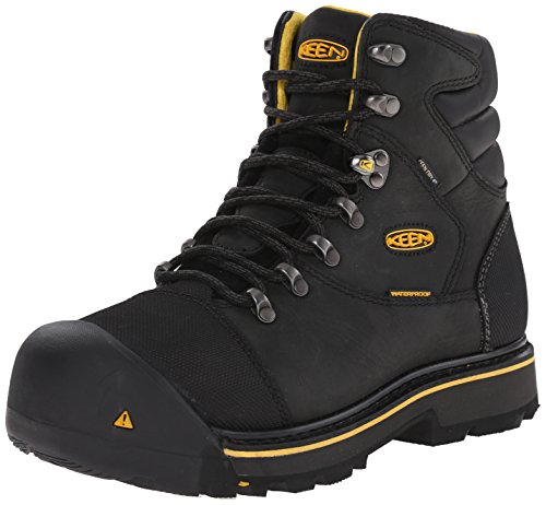Keen Utility Men's Milwaukee WP Work Boot,Black,10.5 EE US