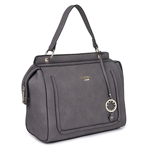 Cathy London Women\'s Handbag, Material- Synthethic Leather, Colour- Grey