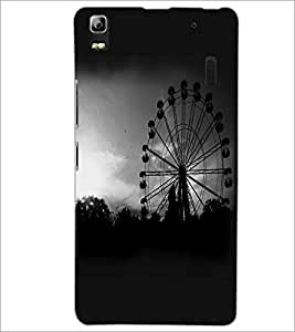 PrintDhaba Giant Wheel D-2346 Back Case Cover for LENOVO A7000 (Multi-Coloured)