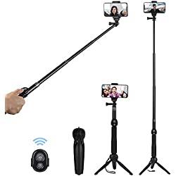 Alfort Bastoni Selfie Mini Treppiede per iPhone X 8 7 7 plus 6 6s 6s plus Con Bluetooth remoto e Treppiedi Pieghevole