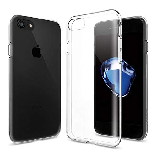 iPhone 8 Hülle, iPhone 7 Hülle, Spigen® [Liquid Crystal] Soft Flex Silikon [Crystal Clear] Transparent Ultra Dünn Schlank Bumper-Style Handyhülle Premium Kratzfest TPU Durchsichtige Schutzhülle für Apple iPhone 7 / iPhone 8 Case Cover - Crystal Clear (042CS20435)