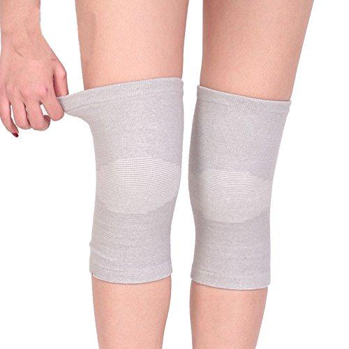 NACOLA 1Paar Vier Jahreszeiten-Kompressions-Ärmel Frauen Männer Elastische Knieschoner Knie-Bandage Kniebandage für gemeinsame schmerzlinderung, Joggen, Sport M grau