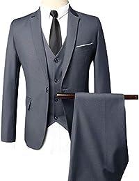 e47d0caf46c2 ROBO Costume Homme Un Bouton Slim Fit Mode Trois Pièces Elégant Mariage  Business