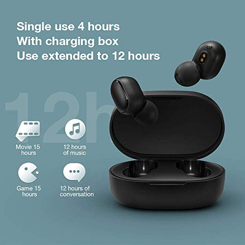 Xiaomi Redmi Airdots, TWS Wireless Bluetooth 5.0 Headphones Charging Box True Stereo Sound Wireless Bluetooth Headphones with Microphone Hands-Free Headphones AI Control black - 6