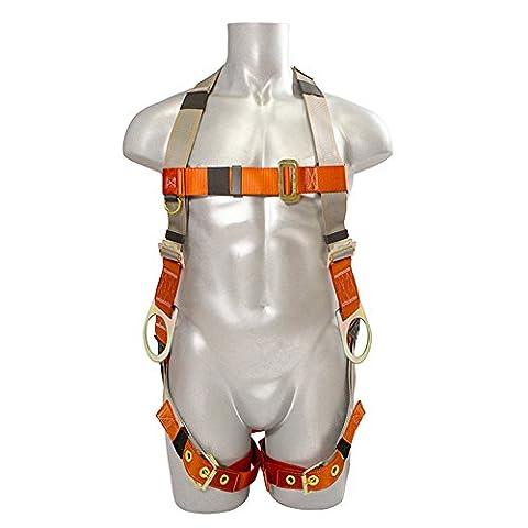 Madaco Dachbau Fallschutz Ganzkörper-Industrie Sicherheitsgurt Interne stoßabsorbierendes 6FT Lanyard Kit Größe M-XXL ANSI OSHA Combo G