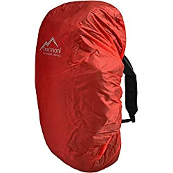 normani Wasserdichter Regenueberzug Raincover Regenhülle für Backpacks Rucksack Farbe Rot Größe 100-130 Liter