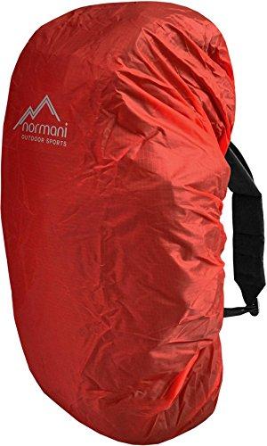 normani wasserdichter Regenueberzug Raincover Regenhülle für Backpacks Rucksack Farbe Rot Größe 60-70 Liter