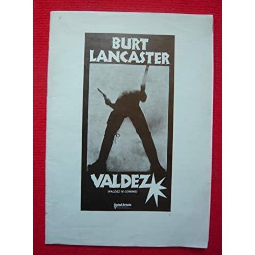Dossier de presse de Valdez – Valdez is coming (1970) - 21x30 cm, 15 p tapuscrites – Film de Edwin Sherin avec Burt Lancaster, Susan Clark + synopsis du film - passages soulignés