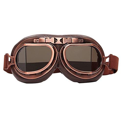 """Preisvergleich Produktbild Kleine Finger Vintage Herren Damen Outdoor Sport Winddicht. Brille Motorrad Brille Schutzbrille,  Smoking Lens,  71.65"""" x 33.46"""""""