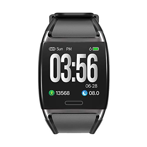 Kuan-Watchs Sportarmband zur Überwachung des Herzfrequenz-Blutdrucks, 1,3-Zoll-Smart-Armband mit Farbdisplay und IP67-Niveau, wasserdicht mit Bluetooth,Black