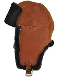DX Leather Products Gorro de aviador - para mujer