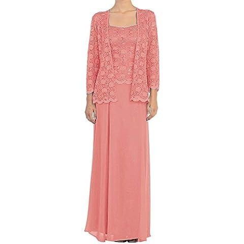 HWAN madre de los vestidos largos formales de la gasa vestido de novia con encaje chaquetas abrigos