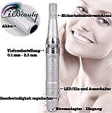 iBeauty Derma Pen Microneedling Gerät Gold Akkulaufzeit 4Std Permanent Make-up Gerät