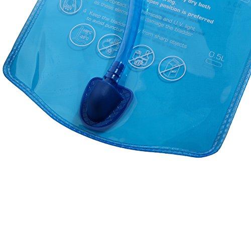 TOURIT Ultra Leichtgewichtige Trinkrucksack mit 2L Trinkblase geeignet zum Camping Laufen, Wandern, Klettern, Fahrradfahren, Schwarz - 9