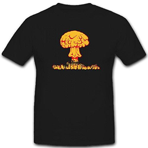 Nucleare detonazione esplosione di una bomba Atomica Fungo Atomico nucleare la Guerra nucleare Bikini Atoll Littleboy - T-shirt #5610 nero