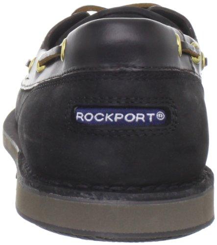 Rockport Perth, Chaussures bateau homme Noir