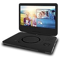 Odys Furo 10 tragbarer DVD Player X820025 (mit 25,7 cm (10,1 Zoll) drehbarem Display, hochauflösendes digitales Panel (1024 x 600 Pixel), USB Eingang) schwarz