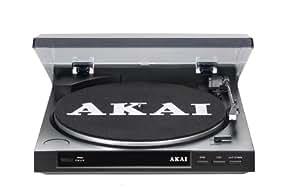 Akai Att01 - Platine vinyle Tourne disque avec port USB pour numériser 33/45 tours (Diamant At3600 remplaçable, MAC et PC) - Noir (Import Allemagne)