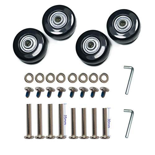 F-ber Ersatz-Räder, ABEC 608zz für Skate/Inline/Outdoor, 50 mm x 18 mm Räder, ABEC 608zz, Ersatz-Räder, EIN Satz von 4 Rollen (OD:50 W:18 ID:6 Achsen:30, Achsen:35) - Rad-satz Von 4