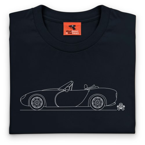 PistonHeads Griffith 500 Roadster Sports Car T-Shirt, Herren Schwarz