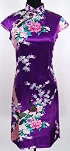 Superbe Robe Chinoise Robe de Soirée Violet