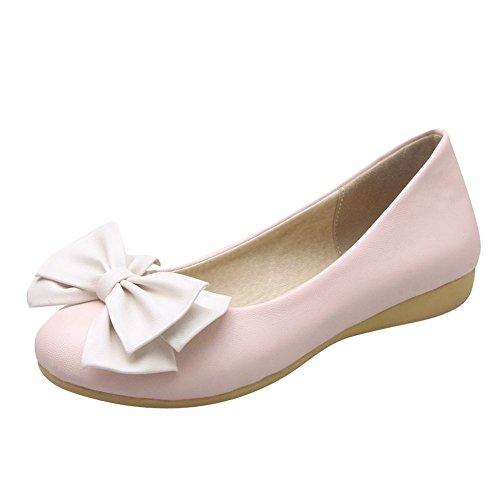 MissSaSa Damen keilabsatz geschlossen Slipper mit Schleife Pink