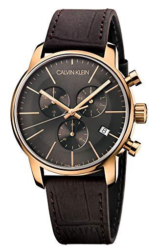 Calvin Klein Orologio da Uomo Cronografo al Quarzo con Cinturino in Pelle – K2G276G3