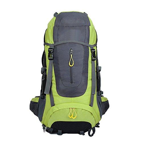 65L Im Freien Bergsteigen Taschen Wandern Rucksack,DarkBlue Green